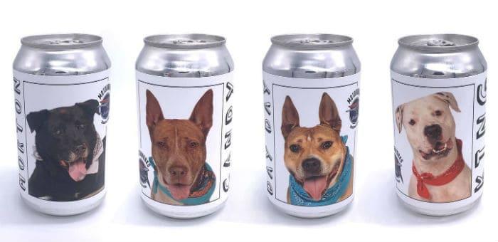 Motorworks dog label beer